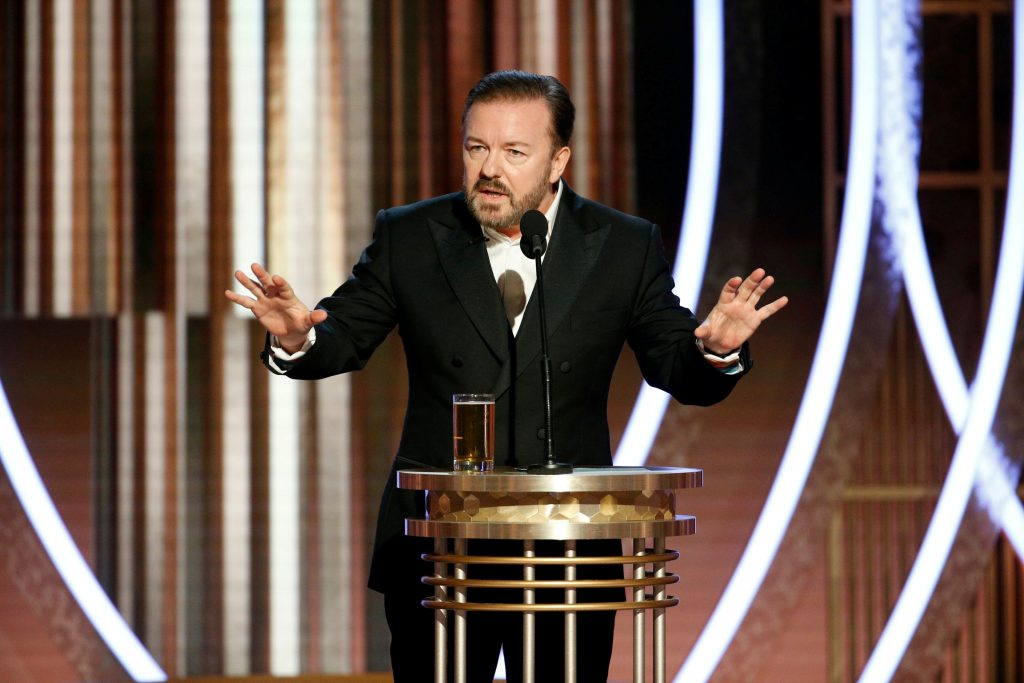 Gervais roasts Hollywood's woke phonies